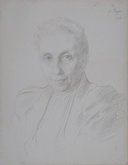 Portrait head of Miss Lydia Peto Kemp