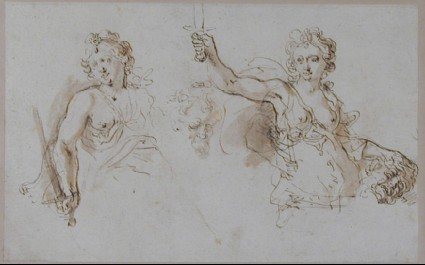 Recto: Studies for a Judith with the Head of Holofernes