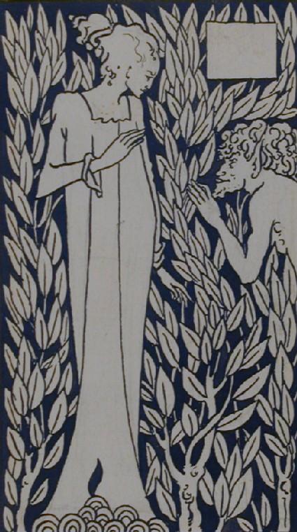 Girl and Satyr, for Malory's 'Morte d'Arthur'