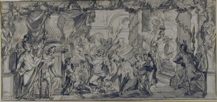 Achilles shot through the Heel by Paris at the Instigation of Apollo