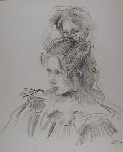 Two Studies of the Head of a Girl