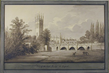 View of the East Bridge at Oxford