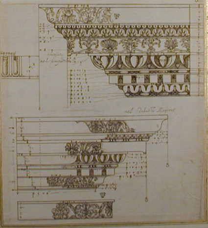 Two cornices and a frieze