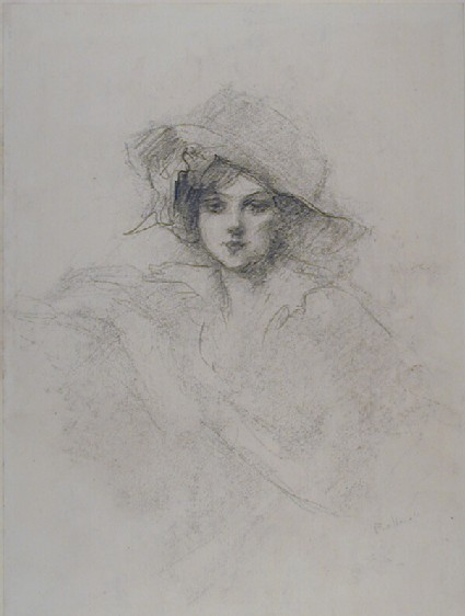 Half-length Portrait of a Woman wearing a Large Hat