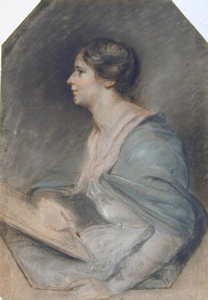 A Lady drawing