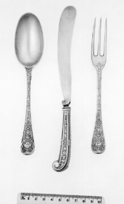 Dessert Service Fork, one of 17