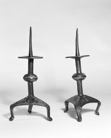 Pricket candlestick one of a pair