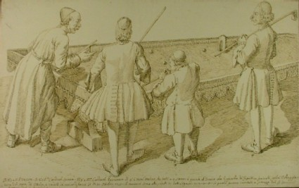 Four Ecclesiastics playing Trucco