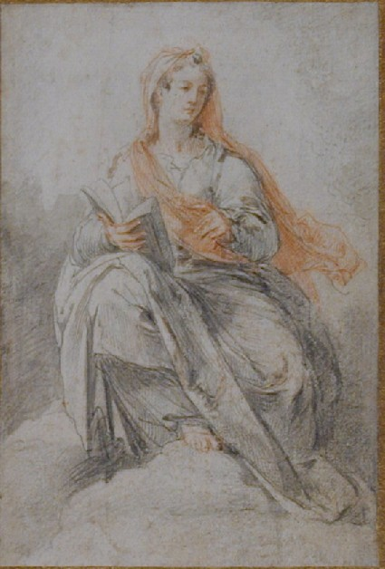 The Virgin holding a Book