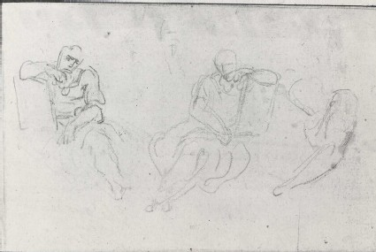 Three Studies of a Man seated