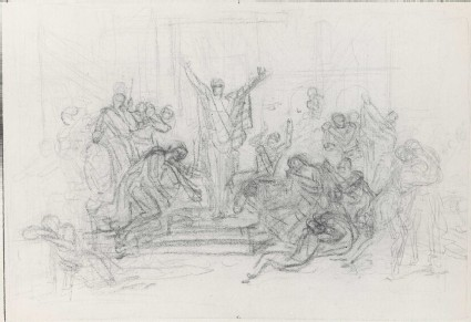 Study for a crowded Composition