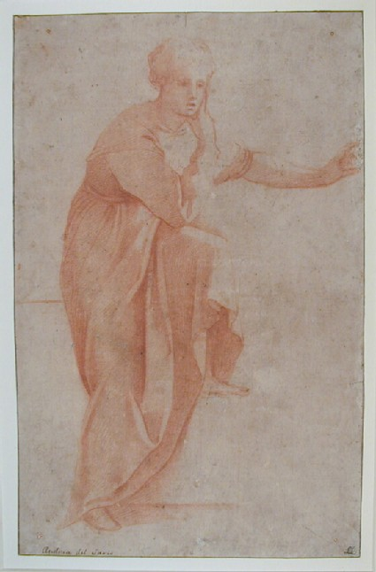 Study of a draped woman