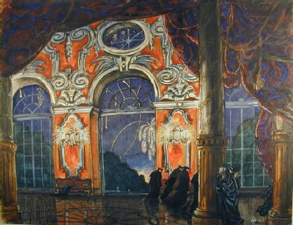 Design for a Set for the Opera 'La Dame de Pique'
