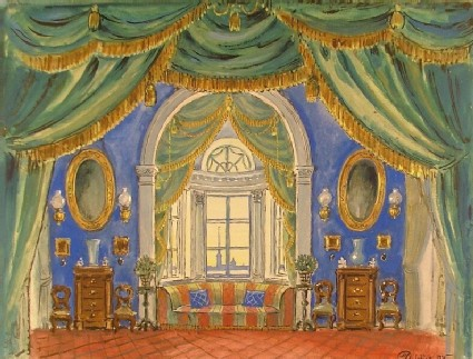 Design for a Set for the Opera 'Eugène Onegin'