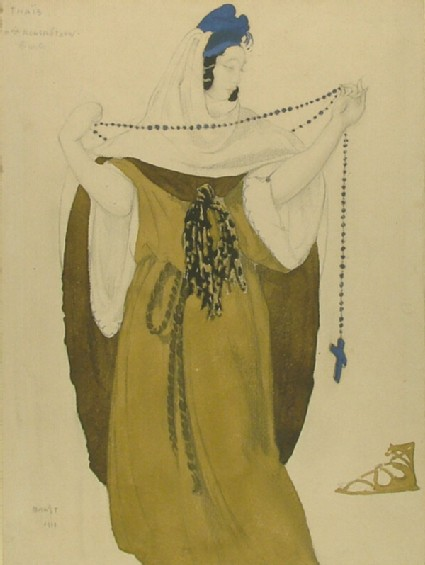 Design for Mme Kuznetsova's Costume in Act III of 'Thais'