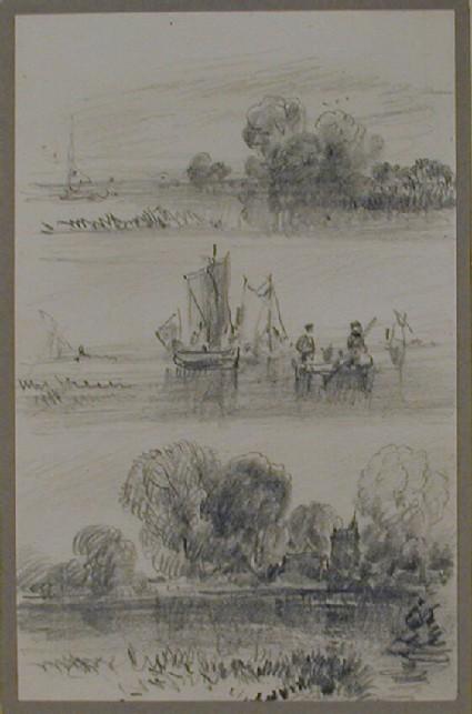 Three studies of riverside landscape