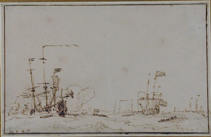 Ships lying-by in a Breeze for a Council-of-War
