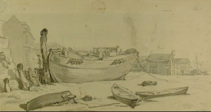 Recto: Harbour Scene