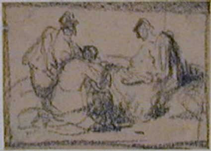 A group of three seated women