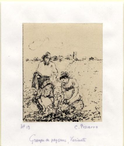 Groupe de paysans, 2e planche (Variante)