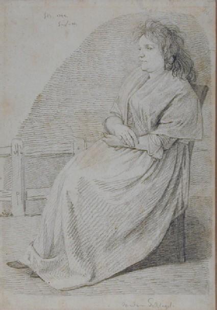 Portrait of Frau Marie Christine Schlegel