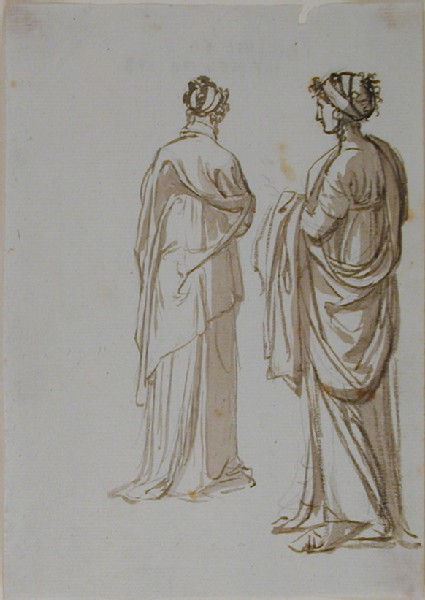 Studies of two Women in classical Costume