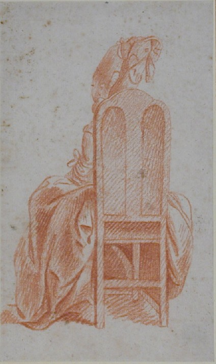 A Woman seated, seen from behind
