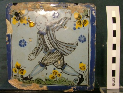 Tile with Chinese figure