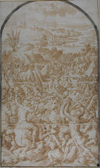 The three Companies of the Israelites attacking the Midianites and Amalekites