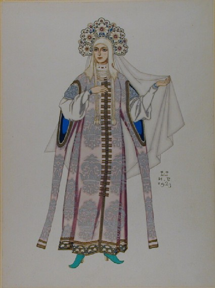 Design for the Costume of a Russian Fairytale Princess