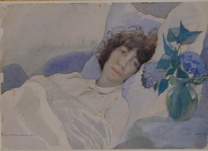 The Artist's Wife in Bed