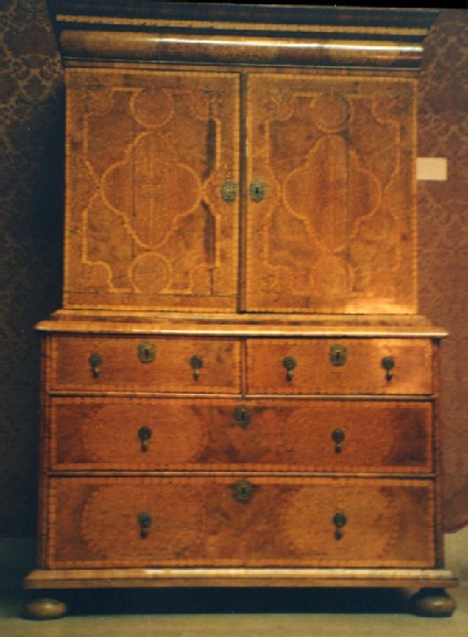 Cabinet on Chest of Drawers
