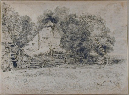 Farm Buildings and Trees