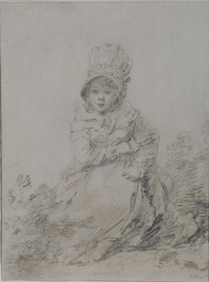 Recto: Study of a seated girl<br />Verso: Study of a girl