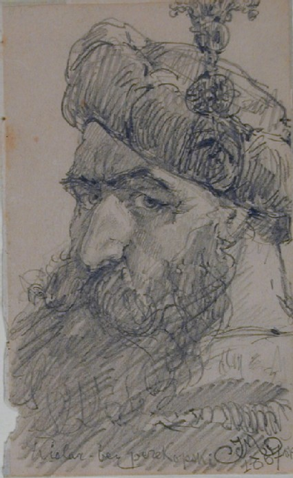 Recto: Head of a bearded Man in a Hat 