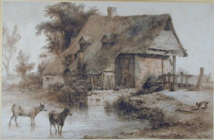 Watermill with Cattle watering