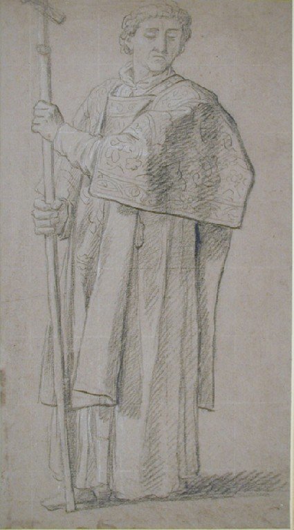 Deacon, holding a processional cross