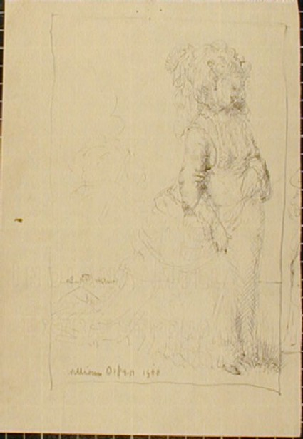 Study of a Woman in a Bustle