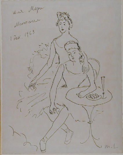 Sketch of two Dancers