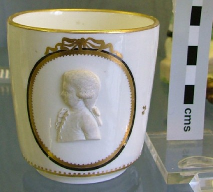 Cup with portrait of Mozart as a young boy