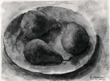 Still Life: Three Pears on a Plate