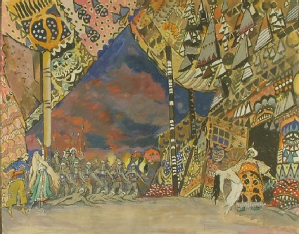 Design for the Décor of a Scene from the Ballet 'Fête'