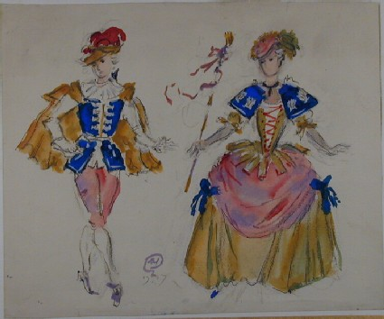 Costume Designs for 'Coppélia'