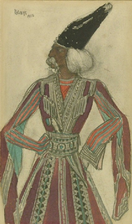 Costume design for Lesguines in 'Thamar'