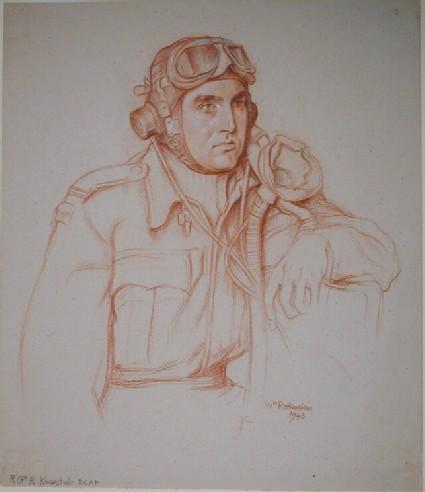 Portrait of flying Officer R. Knewstub