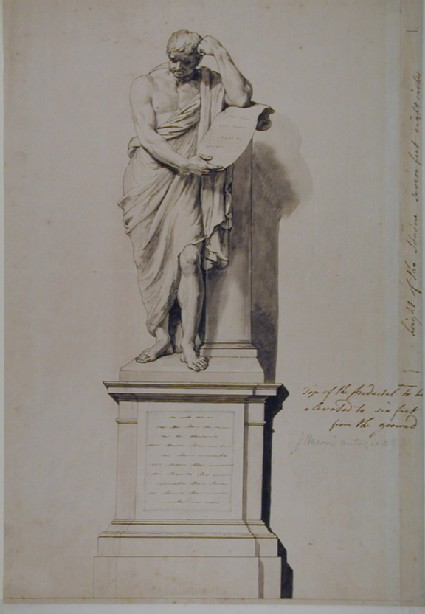 Preparatory Drawing for the Statue of Samuel Johnson in Saint Paul's Cathedral