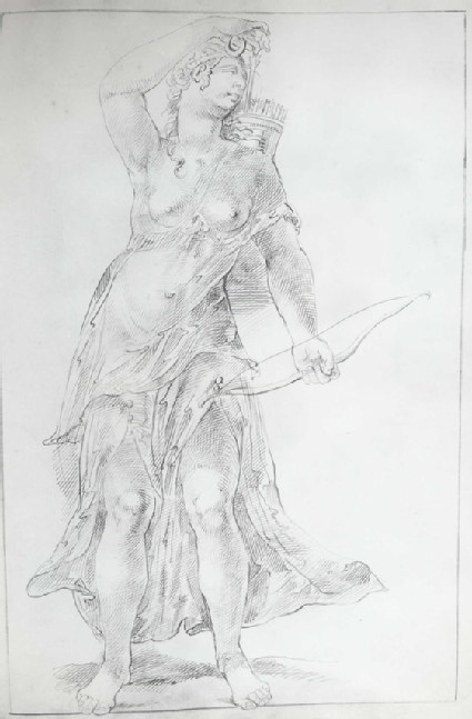 Diana with a Bow, plucking an Arrow from her Quiver