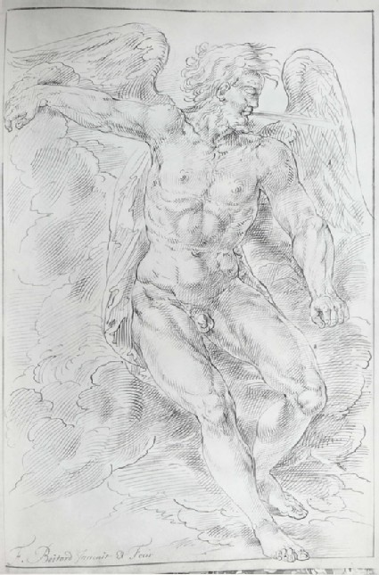 Aeolus, seated on a Cloud