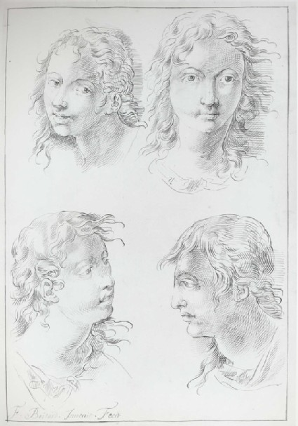 Four Studies of a young Man's Head