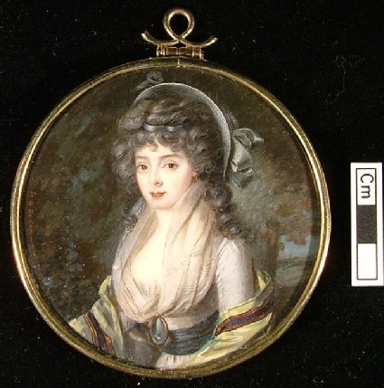 Portrait of an Unknown Woman in a Grey Dress